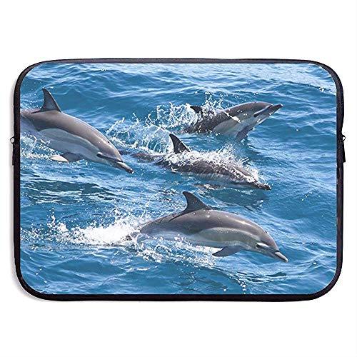 Laptop-Hülle Delfine im Meer Notebook-Tasche Laptop-Umhängetasche Schutz 15 Zoll