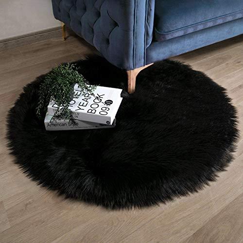 Ashler - Funda para sillón de piel de oveja sintética suave para dormitorio, sofá, sala de estar