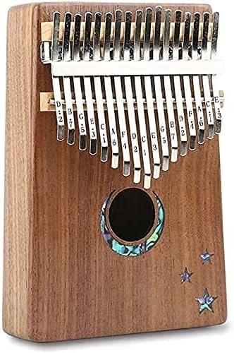 Spring new work Amberbaby Kansas City Mall Finger Harp Thumb Piano Moon Stars Carving Shiny Walnu
