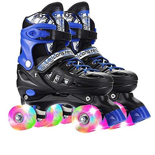 Skates Roller Kinder-Quad Anfänger Adjustable Roller Quad Entwurf for Mädchen und Jungen (Size : L(39-42))
