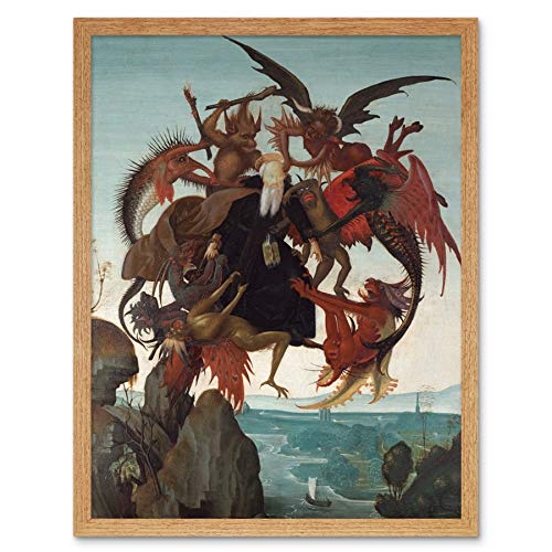 Michelangelo Buonarroti The Torment of Saint Anthony Art Print Framed Poster Wall Decor 12x16 inch
