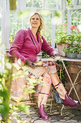 GardenGirl TW0241, Damen Stiefel & Stiefeletten violett Plum and Floral Print 33.5x45.5x13 cm