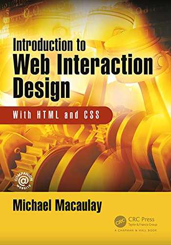 Introduction to Web Interaction Design: With HTML and CSS Front Cover
