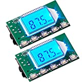 2 Pieces Digital FM Transmitter Module Stereo FM Transmitter DSP PLL 76.0-108.0MHz Stereo Frequency Modulation with LCD Display Line/USB/Mic Input, DC 3.0V - 5.0V
