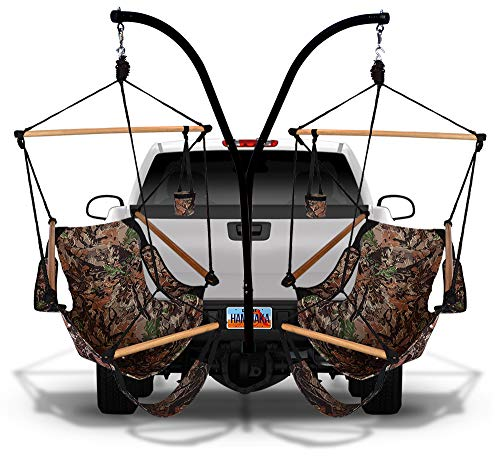 Hammaka 41536203-KP Parachute Hammock Hitch Stand with 2 Cradle Chairs and Army Green/Brown, Camo