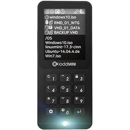 iodd Mini USB 3.0 256-bit Secure encrypted SSD Drive (512GB)