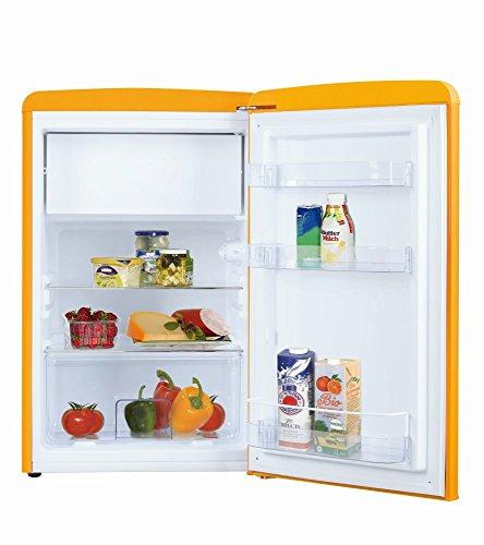 Amica Retro Kühlschrank Gelb KS 15613 Y 108 Liter mit Gefrierfach Standgerät Honey Yellow