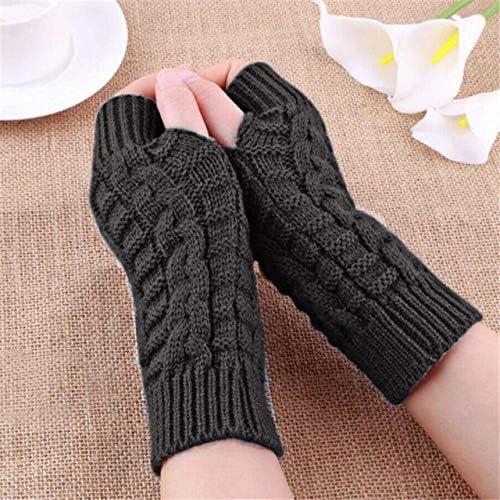 Fashion Knitted Arm Fingerless Winter Gloves Unisex Soft Warm Mitten Hand Gloves eldiven handschoenen 40FE14 - (Color: B, Gloves Size: One Size)