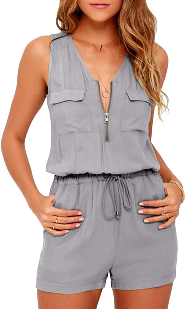 OFFicial site Hestenve Tampa Mall Womens Summer V Neck Sleeveless Jumpsuit Romp and Short