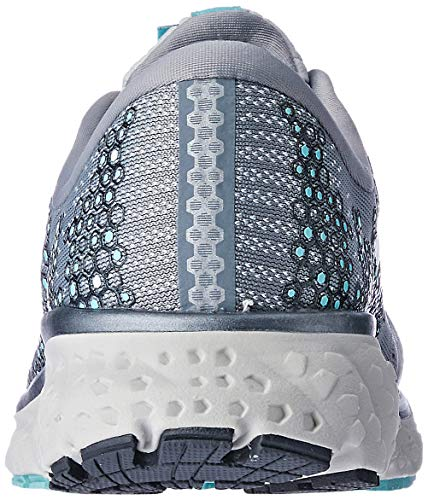 Brooks Womens Glycerin 17 Running Shoe - Grey/Aqua/Ebony - B - 9.5 5