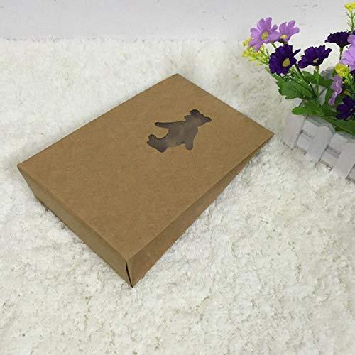 Heng 20st Kraft bestand ondergoed doek verpakking Retro papieren zakkraftpapier geschenkverpakking opbergtas doos, A