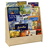 Contender Kids Single-Sided Bookcase [FULLY ASSEMBLED], 5 Shelves Front Facing Kids Bookshelf, Baltic Birch Plywood Book Display [Greenguard Gold Certified]