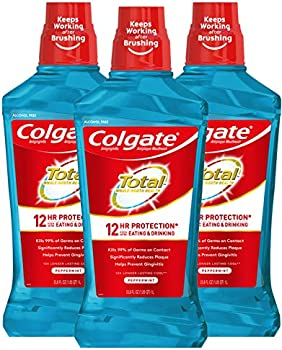 3-Pack Colgate Total Pro-Shield Alcohol Free Mouthwash, Peppermint