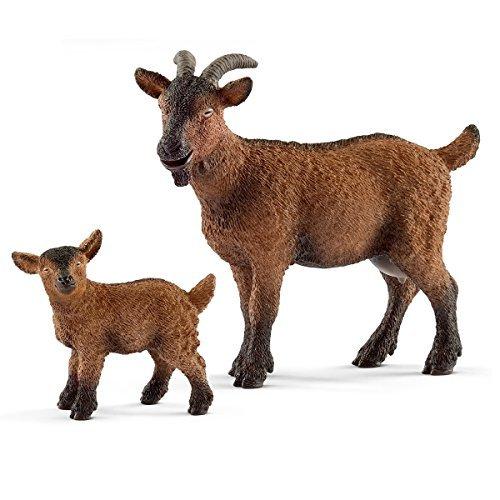 Schleich Farm World - Ziegen Familie - 13828 Ziege & 13829 Zicklein