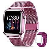 GOKOO Smartwatch Mujer Reloj Inteligente Fitness Deportivo IP68 Impermeable Pulsómetros Entrenamiento Respiratorio Monitor de Sueño Smart Watch Bluetooth Compatible con Android iOS (Púrpura)