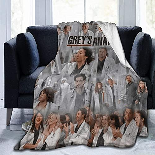 Greys-Anatomy Fleece Blanket Super Soft Warm Bed Blanket for Bed Living Room Sofa Travelling Blankets 50'X40'
