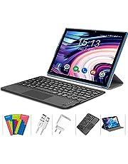 Tablet 25,4 cm (10 inch) Android 10 4G LTE 5G WIFI, 6GB RAM + 128GB ROM (TF 512GB), Octa-Core, batterij 7000mAh, tablet met dubbele camera, 1920 x 1200, Dual SIM/GPS/Bluetooth. /Type C met touch-toetsenbord.