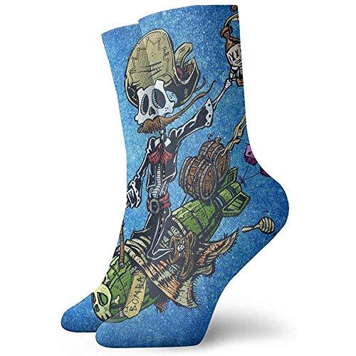 Be-ryl Socken La Bomba Moisture Wicking Cushion Bunte lustige No Show Low Cut Crew Socken