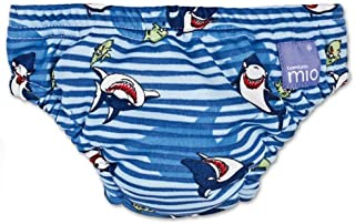 Bambino Mio Swim Nappy Diaper, Blue Shark, Large (Discontinued by Manufacturer)