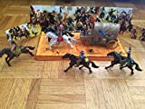 Toys4less Wild Wild West Cowboys vs. Indians Action Figure Set- 12 Piece Set with Horses and Wagon, Multicolor