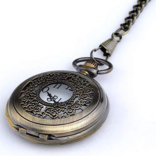 Reloj de Bolsillo, Hombre Clamshell Sra. Retro pequeño Reloj de Bolsillo Collar S Colgante Viejo Estudiante Reloj de Cuarzo no mecánico Impermeable