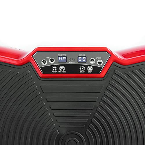 Fitfiu Fitness PV-100 Rouge FITFIU PV-100-Plate-forme vibrante 400W Mouvement oscillant Adulte Unisexe, Unique