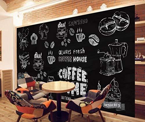 Tony plate Papel Tapiz 3D Personalizado Estilo Europeo Pintado A Mano En Blanco Y Negro Cafetería Mural Restaurante Mural Cartel-400Cmx280Cm(157.4X110.2Inch)