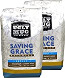 Ugly Mug Coffee Signature Organic Blend Mix Roast | 2-12oz Ground Coffee packs (Saving Grace, Whole Bean)
