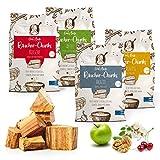 Omi's BESTE© 4er Packung Räucherchunks Kirsche Apfel Akazie Walnuss - ca.1,5kg je Sorte & Ø 5-8cm - BBQ Räucherklötze für kräftiges Raucharoma | 100% natürliches & traditionelles Smoker-Holz