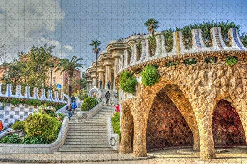 España Guell Palace Barcelona Rompecabezas para adultos 1000 piezas Regalo de viaje de madera Recuerdo