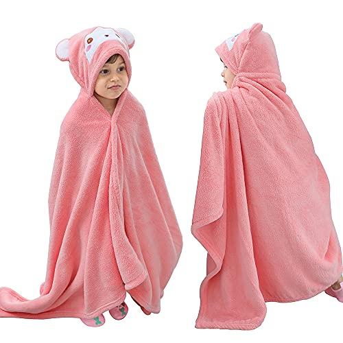 KAKU NANU Toallas de poncho con capucha para niños, para playa, natación, con capucha, para niños...