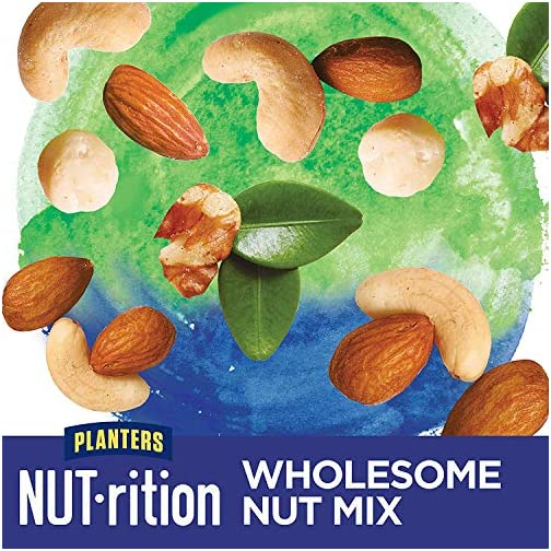 PLANTERS NUT-rition Heart Healthy Snack Nuts Mix, 9.75 oz Canister (Pack of 3) - On-the-Go Snack, Work Snack, School… 5