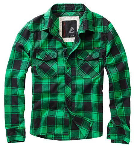 Brandit Check Shirt Herren Baumwoll Hemd 4XL Green+black