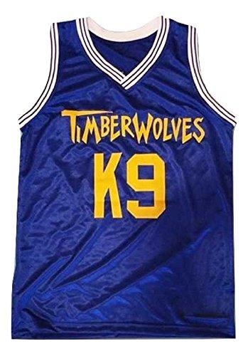 borizcustoms Air K9 Timberwolves Blue Basketball Jersey Stitch Royal Yellow (42)