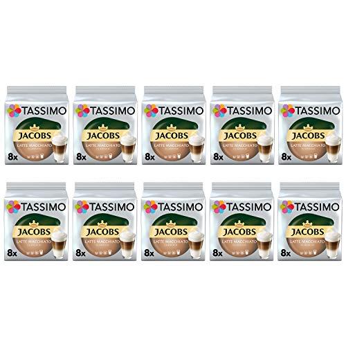 Tassimo Jacobs Latte Macchiato Classico Kaffeepads - 10 Packungen (80 Getränke)