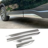 Beautost Fit for Subaru Forester 2019 2020 2021 Door Body Side Moulding Overlay Cover Trims Stainless Steel Matte