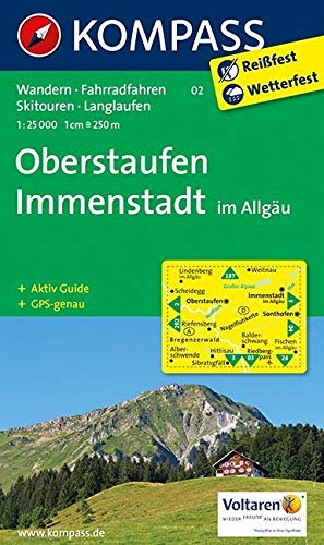 Oberstaufen - Immenstadt im Allgäu: Wanderkarte mit Aktiv Guide, Radwegen, Skitouren und Loipen. GPS-genau.1:25000 (KOMPASS-Wanderkarten, Band 2)