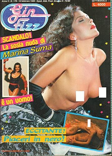 Gin Fizz Rivista erotica Anno 1989. 16 febbraio n.178. Marina Suma, Samantha Fox, Clint Eastwood