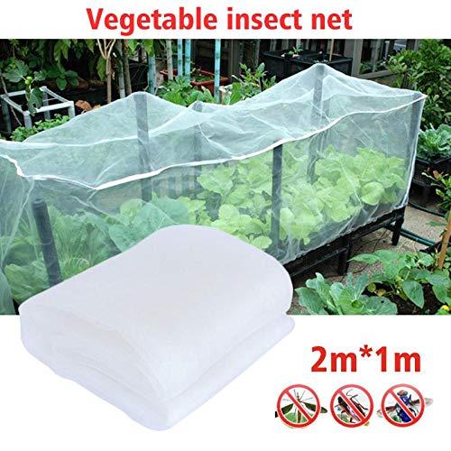 NOBRAND compensación 2m Jardín X1m, Insecto Malla Barrera túnel Delgada para el Cultivo de Vegetales de Frutas