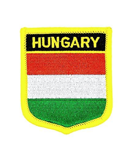 Gemelolandia Parche Termoadhesivo Bandera escudo Hungria