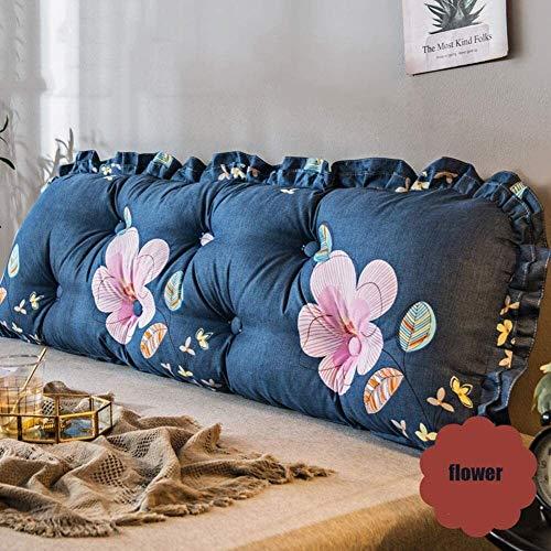 xjm Lumbar Almohadas Apoyo for la Cabeza del Amortiguador Suave cómodo Bedsid Trasera de la Ayuda Triángulo cojín extraíble Lavable (Color : Blue, Size : 140X45CM)