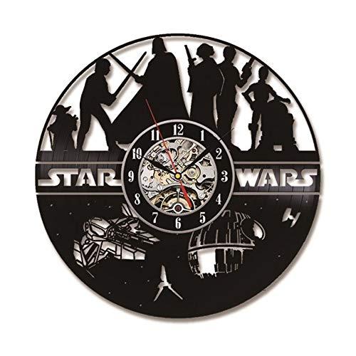 xiaonantian War Hollow 3D Record Klok Populaire Pop Movie Thema Wandklok Vinyl Record Creatieve Antiek Stijl LED Wandklok