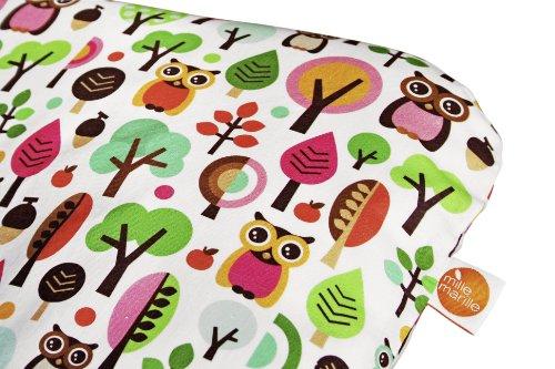 millemarille 1615 Wickelauflage, Modern Owls, pink, phthalatfrei