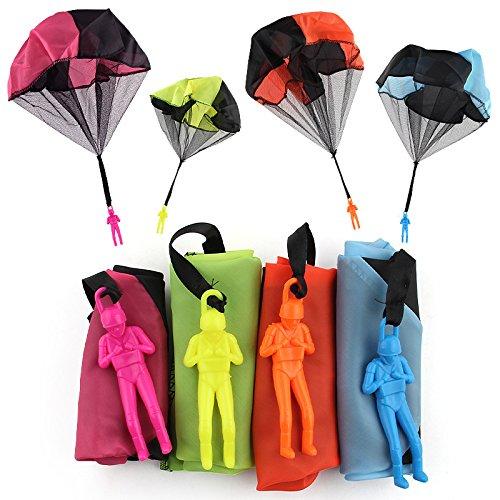 Sipobuy Juego de 4 paracaídas para Hombre, sin enredos, Volar, Juguete Creativo, Multicolor