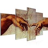 Bilder Creation of Adam MichelAngelo Wandbild 200 x 100 cm