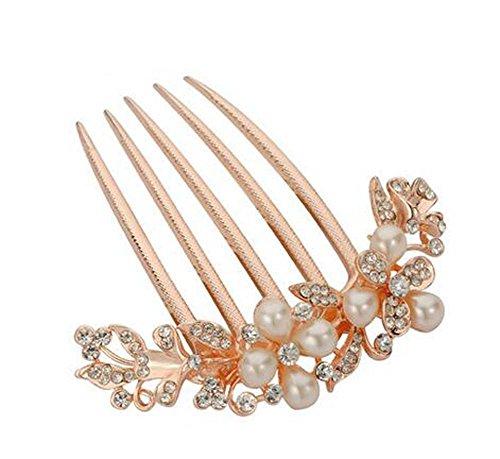 Perle de cheveux en perles de style européen Metal Rhinestones Décoration de cheveux, perles 3