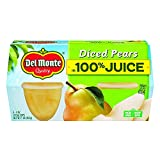 Del Monte Diced Bartlett Pears, 4 Ounce (Pack of 6)