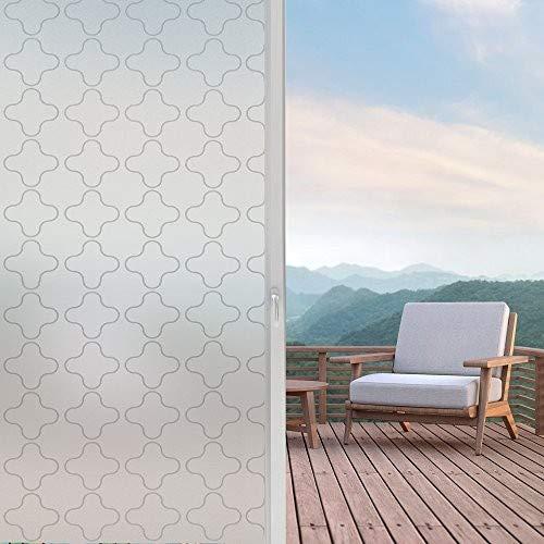 LMKJ Adhesivo para Ventana de película para Puerta de vitrales/Reutilizable/película Decorativa de Vidrio para el hogar Privado Opaco Resistente a los Rayos UV A16 30x200cm
