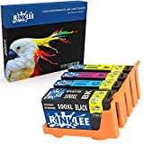 RINKLEE 4 Compatibles 100XL 100 XL Alta Capacidad Cartuchos de Tinta Reemplazo para Lexmark S305 S402 S405 S505 S602 S605 S815 S816 Pro 202 205 208 209 705 805 901 905