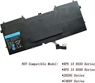 NEW Y9n00 Battery for Dell XPS 12 XPS 13 XPS 13-l321x XPS 13-l322x XPS L321x 489xn 489XN WV7G0 PKH18, NOT Compatible Dell XPS13 9333 C4K9V